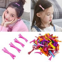 100pcs lots Mixed Candy Color Children Girl Boutique Cross Hair Clips Cute Barrettes Hair Accessories Free Shipping