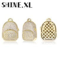 Eged Out Gold Bags Colgante Collar con cadena de tenis Color de oro Cubic Zircon Hombre Hip Hop Joyería para un regalo