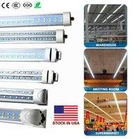 '더블 행 형광등기구 8'통합 LED 라이트 8피트 작업 등 45W 72W 96 8피트 T8 FA8 LED 튜브 V 모양 '
