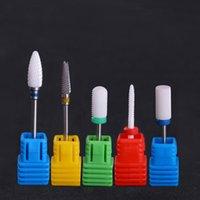 """Ceramic Nail Drill Bit Pedicure Macchina Rimuovere calli Bit utensili elettrici Drill 3/32"""" il chiodo del gel UV di arte Strumenti"""