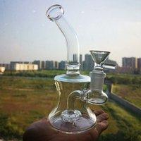 Mini Bong 6.5 pollici di vetro con tubi dell'acqua di vetro narghilè Pyrex spesso con 14mm femmina congiunto becher Bongs piccolo olio dab rig rig
