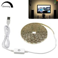 Toque Dimmable Led Light Strip Impermeável 5V USB Tira Led tira de fita Para Cozinha TV Backlight espelho do banheiro decoração do quarto