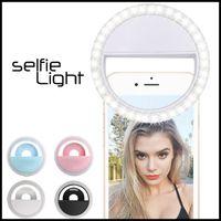 USB iPhone Samsung HUAWEI + Perakende Kutusu için Şarj ile ucuz Selfie'nin LED Halka Işık RK12 RK12 Işık Flaş Lambası Kamera Fotoğraf