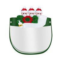 ABD Stok Noel Noel Baba Koruyucu Maske Sünger Forehead Karşıtı Splash Sis PET Tam PET Noel Yüz Shield Ağız Göz Yüz Kapak FY8037