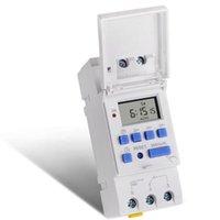 SINOTIMER 24V AC / DC Interruptor semanal programable 7 días de tiempo digital del relé de control del temporizador de montaje en carril DIN para Electric Appliance