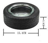 15.4 * 6 cm szklane Cylinder Ashtray Shattersproof Cigar Okulary Ashtray Round Palacze Narzędzia Kreatywne szkło Ashtrays GGA3718-1