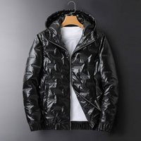 New Mens Winter Jacket Coat Fashion Solid Color Jackets with...