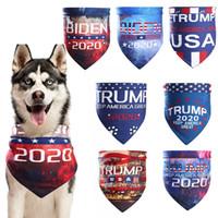 Trump Animaux Echarpes Etats-Unis Président Élection Biden Trump Biden Triangle écharpe Dog Cat Pet Bandanas Lavable Turban HHA1584