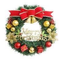 Corona de árbol de Navidad Fiesta de Navidad Decoración familia de la pared decoración Ambiente corona de la decoración cuatro colores GGE1895