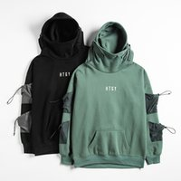 Hot Sale Letter Japan Style Hoodies Sweatshirts Men Harajuku Hip Hop Streetwear Pullover Casual Techwear Fluff Hoddies Male Hooded Top