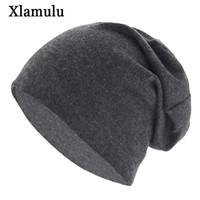 بيني xlamulu الخريف skullies قبعة الصلبة لينة النساء الشتاء القبعات للرجال قبعات الذكور بوني نت قناع الرجال قبعة الصوف الإناث قبعة