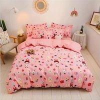 2021 Rosa cotone Bedding regola 4 pc del fumetto Bed Suit accessori per la casa Bedding Sheet copripiumino federa Designer