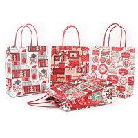토트 백 무료 DHL 884 포장 크리스마스 선물 크래프트 종이 가방 창조 브론 징 귀여운 만화 크리스마스