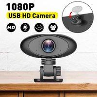 Caméscopes HD 1080P Webcam Mini ordinateur PC avec caméras rotatifs à microphone pour la diffusion de la diffusion en direct