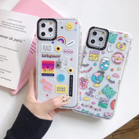 Поддержка настройки Ударостойкой тенденции моды прозрачный шаблон персонализации телефона чехол для iPhone 11 Pro Xs MAX XR X 6 s 7 8 плюс