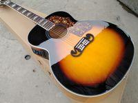 Top Quality Solid Spruce J200 Acústica Tortaruga Pickguard Maple Body J200VS Guitarra