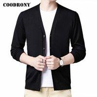 Мужские свитера Coodrony бренд свитер мужская одежда 2021 осень зима кардиган мягкая теплая вата кардигана чисто цвет V-образным вырезом C1153