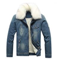 Casual Plus Size cappotti Designer Jeans inverno rivestimento di modo caldo colletto in pelliccia sintetica Spesso Giacca di jeans