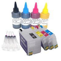 Mürekkep Dolum Kitleri T252XL 252XL Doldurulabilir Kartuş Ile Boya Süblimasyon WF-7710 WF-7720 WF-7210 WF-7220 WF2750 WF3640 Yazıcılar