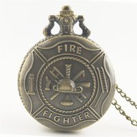 Antik Retro Bronz Erkek Amerika Birleşik Devletleri Memurları ABD itfaiyeci ABD Askeri Yangın BÖLÜMÜ Erkekler kolye Pocket Saat Kolye Takı kolye