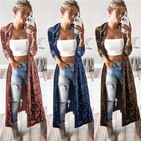Sleeve Lapel Neck Coat Fashion Female Clothing Autumn Womens Designer Trench Coats Solid Color Printed Long