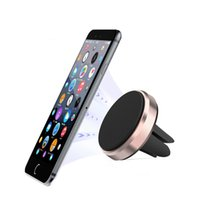 100pcs Universal Magnetic mini Car Air Vent Phone Mount Holder Stand Outlet Support Magnet For All Mobile