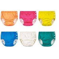 Unisex regolabile Swim Pannolino Pool Pant nuotata del pannolino del bambino lavabili riutilizzabili Pool del pannolino del bambino di nuotata Pannolini KKA8098