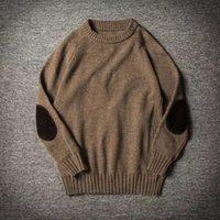 okkdey 2020 y Otoño Hombres Ronda de Invierno Nuevo estilo espesado Luz Core suéter de cuello jersey suéter para los hombres jóvenes