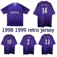 1998 1999 Les Ferdinand Ginola Retro Fussball Jersey 98 99 Anderton Armstrong Sol Campbell Carr Vintage Classic Football Shirt