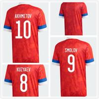 Russie Customized 20-21 Euro Coupe Jerseys Soccer T-shirt 10 Smolov 9 Dzagoev 7 Kuzyaev 15 Miranchuk 22 Dzyuba 17 Golovin 18 Zhirkov 11 Zobnin