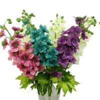 10pcs Gefälschte Delphinium Simulation Rittersporn Silk Violette Blume Hyazinthe für Hochzeit Mittel dekorative Blumen