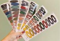 10pcs / Saçın pimleri Yeni Moda Katı Renk Scrub Reçine Kore Geometrik Hollow Waterdrop Saç Kadınlar Saç Aksesuarları Klipleri paketi