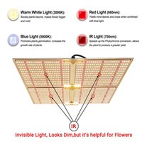 Idoo 4000 W QB1212 LED Işıkları Büyümek Güneşlik Tam Spektrum Kapalı IR Ev için Hidroponik + Tüm Aşamaları + Yüksek Verim / PPFD + Gürültü Yok
