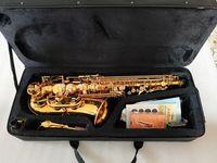 المهنية ألتو ساكسفون YAS-62 مفتاح الذهب أداة موسيقية سوبر الجودة عالية الجودة الذهب الكهربي ساكس هدية هدية
