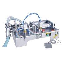 Ticari Elektrikli Çift kafalı İçecek Dolum Makinesi Yatay Küçük Pedal Sıvı Dolum Makinesi Süt, Su, Alkol ve Diğer Sıvı