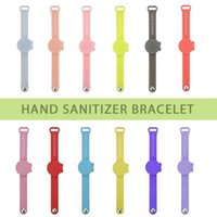 Portable Hand Sanitizer Disinfectant Sub-packing Silicone Bracelet Wristband Hand Dispenser Sanitizer Bracelet Adults And Kids OOA9133