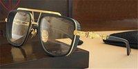 تصميم جديد الرجعية النظارات البصرية PUSHIN ROD II مع قناع العين تصميم صناعة ثقيلة دراجة نارية نمط سترة أعلى جودة العدسات البصرية