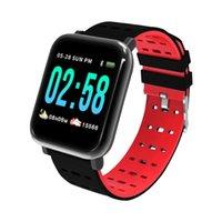 A6 ساعة ذكية ip67 النشاط للماء اللياقة البدنية المقتفي سوار معدل ضربات القلب رصد ضغط الدم الرجال النساء smartwatch