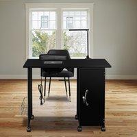 Waco Manicure Nail Table, armação de aço Nail-Station Mobiliário de mobília Spa Tabelas de Nail-Art Workstation Equipamento de beleza, preto