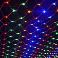 Nueva 8m * 10m * 6M 4M 3M 2M * 2m * 2m * 1.5M 1.5M LED MeshString luces netas de techo fiesta de Navidad decoración de la boda al aire libre lámparas CRESTECH