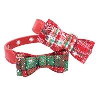 paño suave del gato del perro del collar del nudo del arco Para Pequeña Mediana Razas del perro para mascotas Decoración de Navidad Nuevo llega 2020
