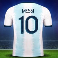 20-21 Argentine Home 10 Messi 21 Dybala Thaï Thai Quality Jersey Shirts Jersey de football, Home Away Black Personnalisé 11 di Maria 22 L.Martine Soccer usure