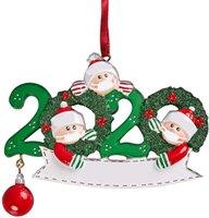 Рождественские украшения украшения Деревянные снеговика Рождественская елка висит кулон Xmas Tree Санта Клаус Подвесной с маской семьи 2-5 GGA3735-4