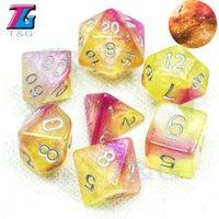 RPG Hot Vente DND jeu Universe Galaxy numérique Jeu de dés D4-J20 avec sac Shinny Effectt cool Party Boardgame cadeau