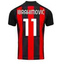 Personnalisé Thai Quality Soccer Jerseys Shirts 11 Ibrahimovic 39 Paquetta 19 Théo 17 R.leao 13 Romagnoli 10 Calhanoglu 7 S.castillejo Custom