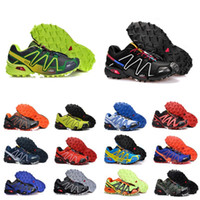 salomon sneakers 2020 سرعة عبر 3 رجل CS في الهواء الطلق الاحذية SpeedCross 3 عداء الركض III أسود أخضر المدربين الرجال الرياضة أحذية رياضية chaussures zapatos