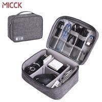 MICCK Digitalspeicher-Beutel für Kopfhörer-Kabel USB-Sticks Reise Organizer Reise Kit Portable Kabelaufwicklung Organizer-Tasche