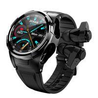 WorldFirst Smart Watches Auriculares Bluetooth inalámbricos TWS BT Earphone Sport Fitness Watch + oreja pero con ritmo cardíaco de la presión de oxígeno en la sangre.