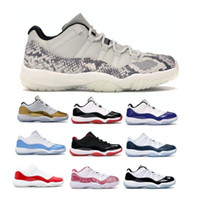 New Jumpman 11 11s Low Herren-Basketball-Schuhe Weiß Concords Bred Snakeskin Schlange UNC Universität Blau Frauen XI Zapatillas Trainer Turnschuhe