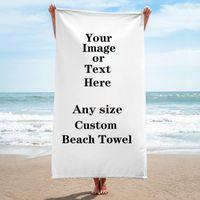 Custom Large Beach Handduk Microfiber Badhandduk Absordent Yoga Mat Outdoor SuperFine Fiber Blanket Travel Terry Handduk 70x140 / 150cm 80x160cm